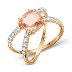 Золотое кольцо Геометрия c морганитом