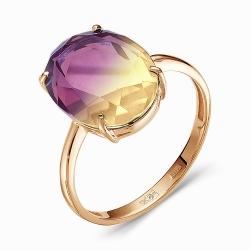 Золотое кольцо c аметрином