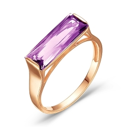 Золотое кольцо c аметистом