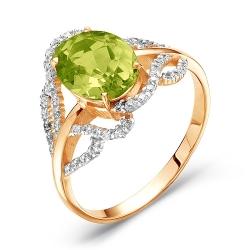 Золотое кольцо c хризолитом