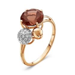 Золотое кольцо c гранатом