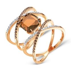 Золотое кольцо Геометрия c раухтопазом