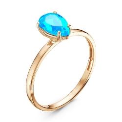 Золотое кольцо c параибой
