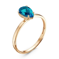 Золотое кольцо c топазом Лондон