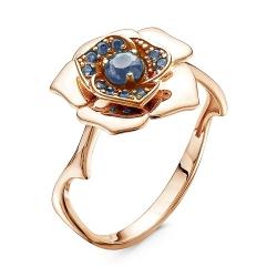 Золотое кольцо Роза c топазом Лондон