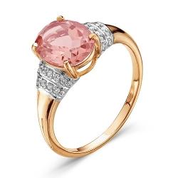 Золотое кольцо c морганитом