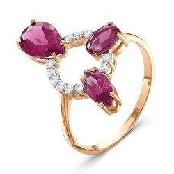Золотое кольцо c родолитом
