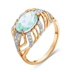Золотое кольцо c аквамарином