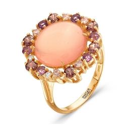 Золотое кольцо c кварцем