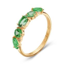 Золотое кольцо c турмалином