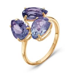 Золотое кольцо c александритом