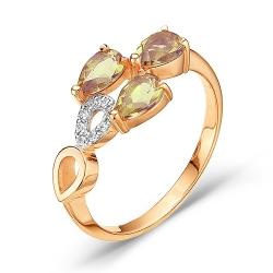 Золотое кольцо c султанитом