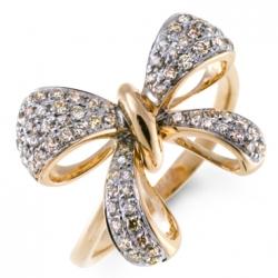 Золотое кольцо Бабочка c бриллиантами