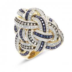Кольцо из желтого золота c бриллиантами Эксклюзив