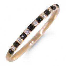 Кольцо из белого золота c черными бриллиантами