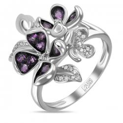 Золотое кольцо c аметистами и бриллиантами