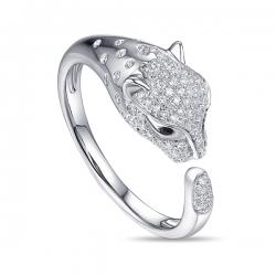 Золотое кольцо «Пантера» c бриллиантами