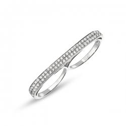 Золотое кольцо Геометрия c бриллиантами