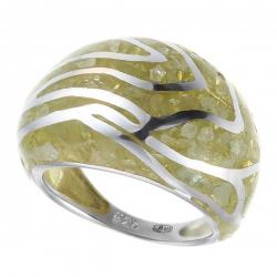 Кольцо из серебра 925 пробы с аквамаринами