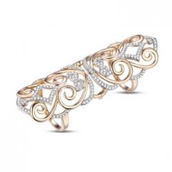 Золотое кольцо Ажур c бриллиантами
