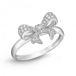 Золотое кольцо Бантик c бриллиантами