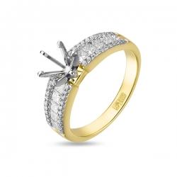 Оправа из желтого золота c бриллиантами