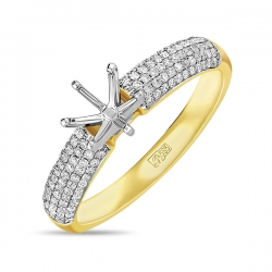 Золотая оправа c бриллиантами
