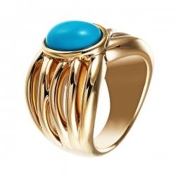 Кольцо из серебра 925 пробы с бирюзой искусственной