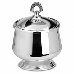 Серебряная икорница из набора «Классический»