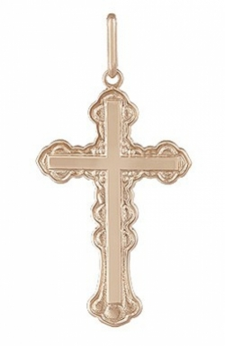 Золотая подвеска-крест