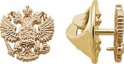 Значок Герб России из красного золота