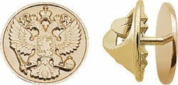 Золотой значок Герб России