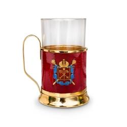 Подстаканник с гербом Санкт-Петербурга