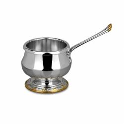 Серебряная кокотница из набора «Государственный» с золочением.