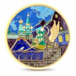 Серебряная декоративная тарелка «Банковский мост»