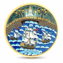 Серебряная тарелка «Море»