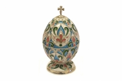 Серебряная шкатулка-яйцо