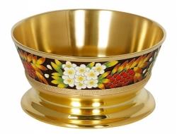 Серебряная ваза для фруктов «Рябина»