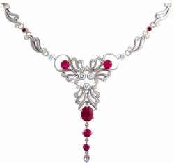 Колье «Неоклассика» с рубинами и бриллиантами