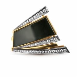 Кольцо «Дуэт» с сомбриллом и бриллиантами