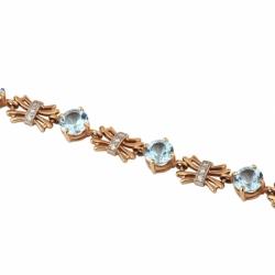 Браслет с топазами и бриллиантами