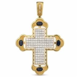 Подвеска-крест с бриллиантами в невидимой закрепке
