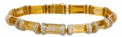 Браслет из желтого золота «Ноктюрн» с цитринами и бриллиантами