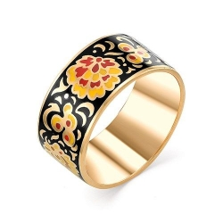 Серебряное кольцо c эмалью