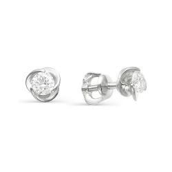 Серебряные серьги c фианитом