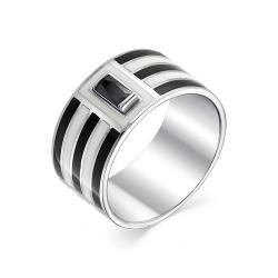 Серебряное кольцо c эмалью и фианитом