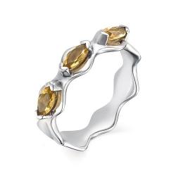 Серебряное кольцо c цитрином