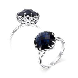 Серебряное кольцо c сапфировым кристаллом