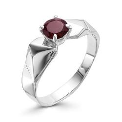 Серебряное кольцо c гранатом