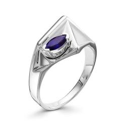 Серебряное кольцо c сапфиром ГТ